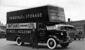 Brittains Removals and Storage, around 1947, in St Neots High Street, 2nd new van after WW2, taken for 1st carnival procession
