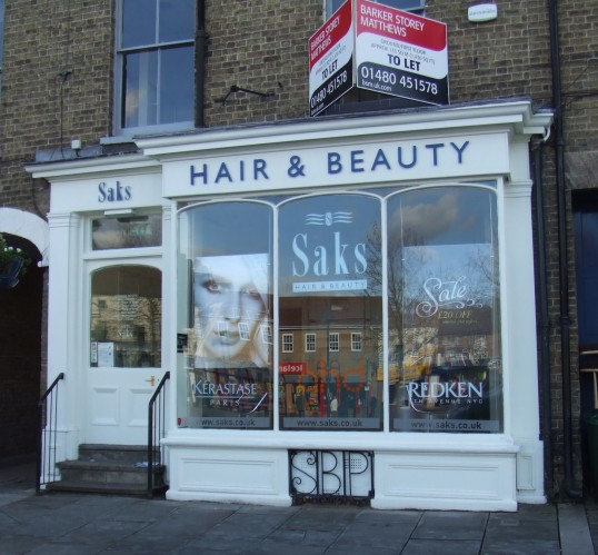 Saks Hair and Beauty Shop in St Neots Market Square, closed February 2012