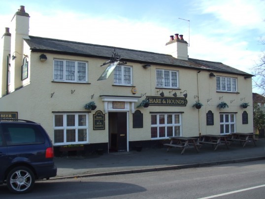 Hare and Hounds Public House in Berkley Street, Eynesbury in March 2012