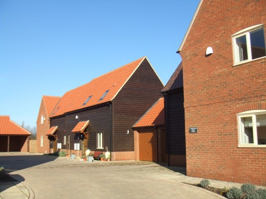 Some of the new houses at Crosshall Park Court in Eaton Ford in February 2012