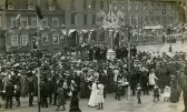 Celebrations in St Neots Market Square for the coronation of King George V, 1911 (photo from St Neots Market Square)
