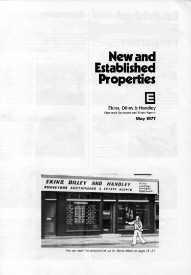 Front page of Flagboard, the estate agents book of properties for sale in May 1977