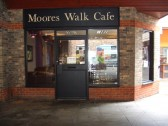 'Moores Walk Cafe' in Moores Walk, St Neots - about to open after a renovation, in April 2012