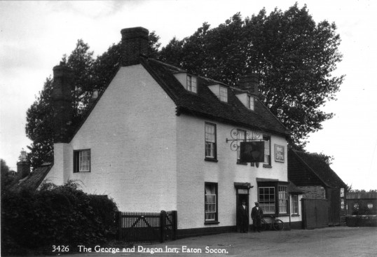 The George and Dragon Inn on the Great North Rd in Eaton Socon in the early 1940s
