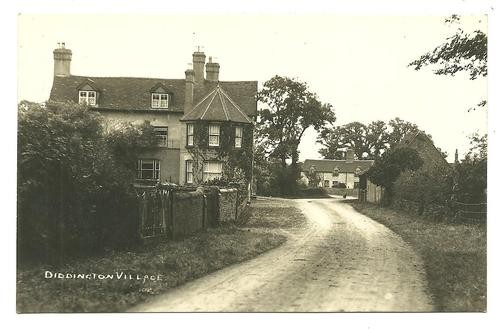 View of Diddington village, a few miles north of St Neots, around 1900