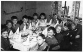 A birthday party in Queens Gardens, Eaton Socon, about 1959