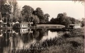 Houseboat Corner in St Neots, on the River Great Ouse around 1930