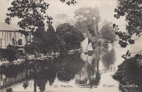 View of River Terrace in St Neots in 1911
