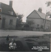 Gary Cutts at Staploe village, about 1952