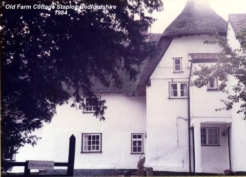 'Old Farm Cottage' in Staploe village, in Eaton Socon Parish, in 1984