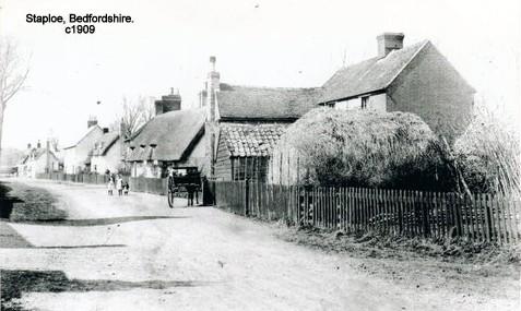 Staploe village - a quiet idyllic scene in 1909 (N. Cutts)