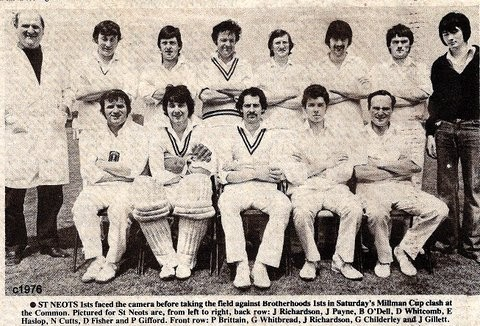 St Neots 1st Cricket Team about 1976 (N. Cutts)