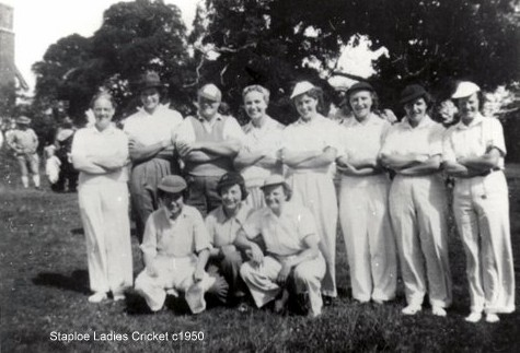 Staploe Ladies Cricket team, c1950 (N. Cutts)