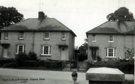 Nigel Cutts at Brookside, Staploe, in the parish of Eaton Socon in 1967 (N. Cutts)