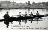 Gary Cutts rowing at St Neots Rowing Club on the River Great Ouse around 1967 (N. Cutts)