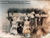 Wedding of Alfred Waterworth and Rose Hetty Elliott in 1899 - photograph at Staughton Moor (N. Cutts)