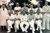 Staploe and Duloe Cricket team in Eaton Socon Parish, c1955 (N. Cutts)