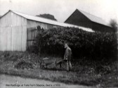 Wal Partridge at Falls Farm in Staploe, around 1930 (N. Cutts)