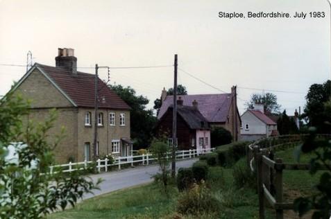A view of Staploe village in Eaton Socon Parish in 1983 (N. Cutts)