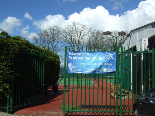 St Neots Tennis Club in St Anselms Place in April 2012
