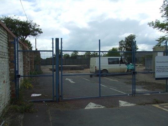 Close up view of the new cinema site in May 2012, fomer household tip area in Huntingdon Street, St Neots