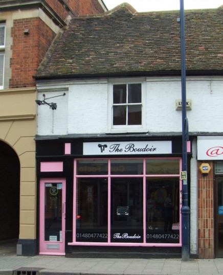 The Boudoir - Hair and Beauty Salon in St Neots High Street, closed Spring 2012