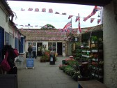 Cross Keys Mews in St Neots decorated for the Queens Jubilee in June 2012