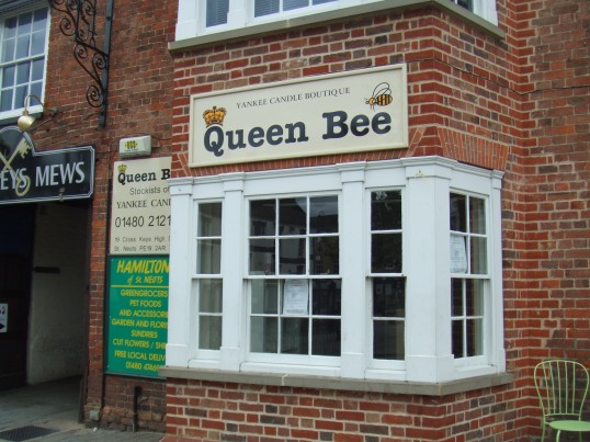Queen Bee shop in Cross Keys Mews in St Neots, empty after closing in May 2012