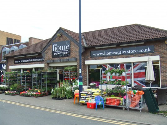 Home Outlet Store in Priory Lane, St Neots, decorated for the Queens Jubilee in June 2012