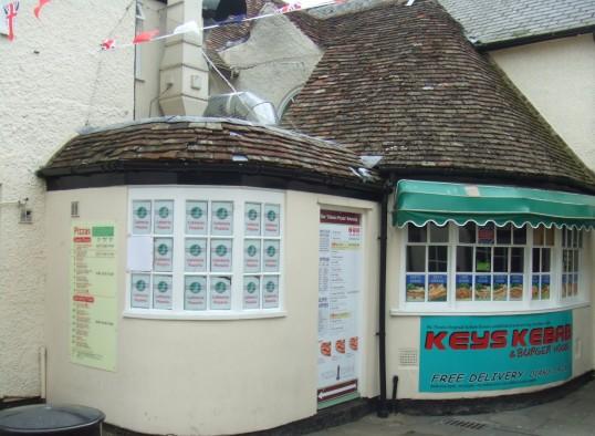 Keys Kebab shop in Cross Keys Mews, off St Neots Market Square in June 2012