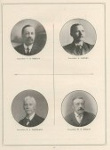 1911 Coronation Souvenir programme - portraits of Councillors Riseley, Harvey, Gardener and Wright