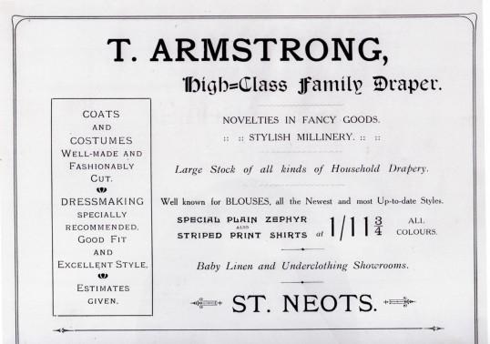 Armstrong Draper's advert in the 1911 Coronation Souvenir Programme
