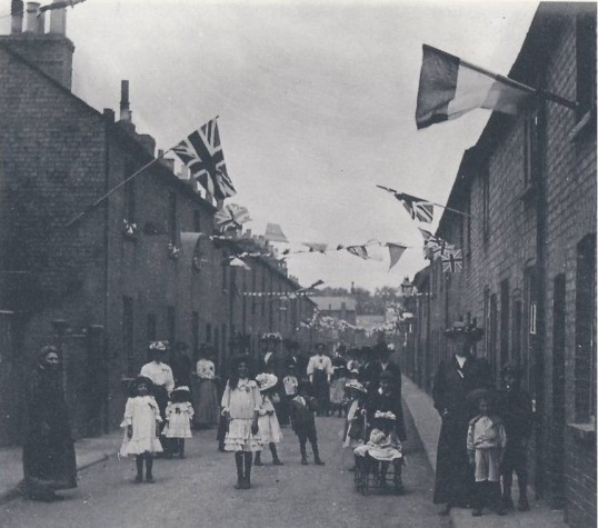 Children at the Celebrations in Russell Street marking Queen Victoria's Diamond Jubilee Celebrations, in June 1897