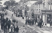 Coronation Celebrations in St Neots in June 1911 - View from Barrett's Corner to the Bridge.