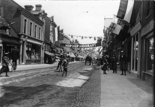 St Neots High Street decorated for the Queen Victoria's Diamond Jubilee Celebrations in 1897