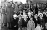 1953 Coronation Day in St Neots - Leys Rd, Harland Rd and Lammas Way residents had a party in the back garden of the Trickett family