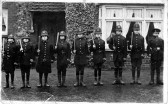 Boys at Eynesbury C of E school dressed as policemen, about 1913