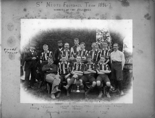 St Neots Football Team 1896-1897 Winners of the Fellowes Cup - 4th Successive Win
