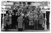 Staff outing to Leigh on Sea for the staff at Spencer Thomas's farm at Honeydon in Eaton Socon Parish in 1955 (P & W Linford)