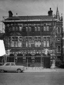 Westminster Bank in St Neots High Street with building works by Linford builders around 1960 (P & W Linford)