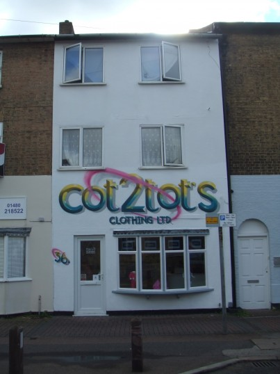 Cot2tots Clothing Ltd in New Street, in July 2012, formerly Party Jacks shop