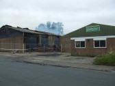 Boardcraft factory at the Howard Rd Industrial Estate, Eaton Socon, after being gutted by fire on 16th July 2012