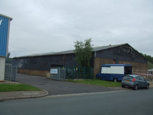 Boardcraft factory at the Howard Rd Industrial Estate in Eaton Socon, after being gutted by fire on 16th July 2012