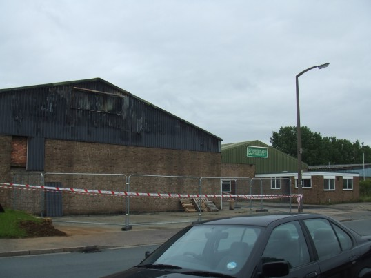 Boardcraft factory at the Howard Rd Industrial Estate in Eaton Socon after being gutted by fire on the 16th July 2012