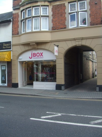 J Box Accessories - opened in August 2012 replacing 'Claire's' assessories shop in St Neots High Street