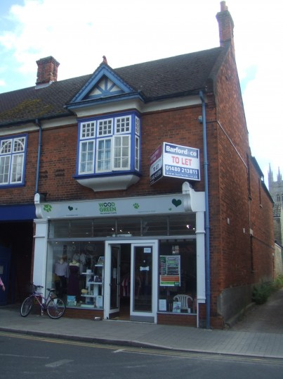 Wood Green Charity Shop, opened in August 2012 in the former Lawsons shop in St Neots High Street