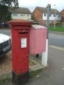 GR post box near Kings Lane Garage, Cambridge Street, St Neots, dating from 1910-1936