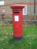 GR Post Box near Fast-Fit Tyre Place in Cambridge Street, St Neots, dating from 1910-1936