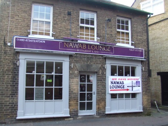 Nawab Lounge Indian Restaurant has just moved from New Street in St Neots, in December 2012
