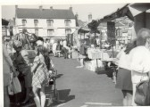 St Neots Market with the Falcon Inn in the background, in the early 1970s